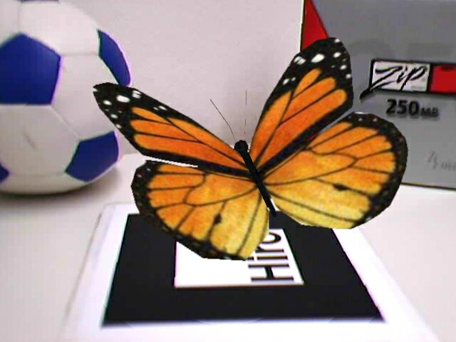 Virtual butterfly with smoothing